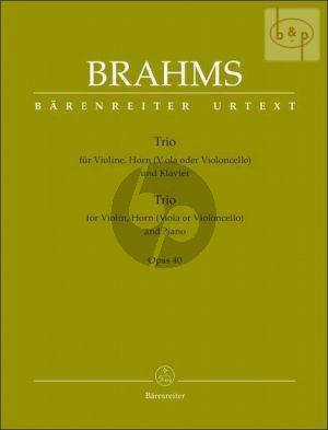 Trio Op.40 (Horn[Eb][Viola/Vc.]-Violin-Piano) (Score/Parts)