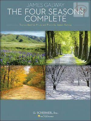 Vivaldi 4 Seasons (complete) Flute-Piano (edited by James Galway)