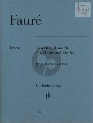 Berceuse Op.16 Violine und Klavier