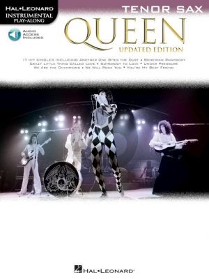 Queen 17 Songs Instrumental Play-Along for Tenor Sax (updated edition) (Book with Audio online)