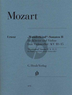 Mozart Wunderkind Sonaten Vol.2 KV 10 - 15 Violine und Klavier (edited by W.D.Seiffert) (fingering and bowing B.Schmid) (fingering piano A.Haering) (Henle-Urtext)