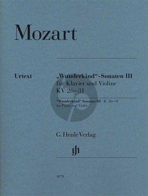 Mozart Wunderkind Sonaten Vol.3 KV 26 - 31 Violine und Klavier (edited by W.D.Seiffert) (fingering and bowing B.Schmid) (fingering piano A.Haering) (Henle-Urtext)