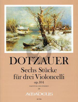 Dotzauer 3 Stucke Opus 104 3 Violoncellos (Score/Parts) (edited by Yvonne Morgan)