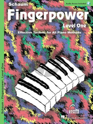 Schaum Fingerpower Level 1 Piano (Book with Audio online)