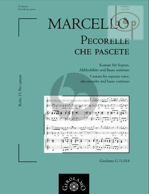 Pecorelle che pascete (Cantata) (Soprano Voice- Treble Rec.-Bc)