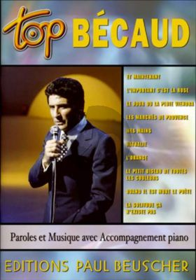 Top Becaud (10 Chansons) Piano-Vocal-Chords