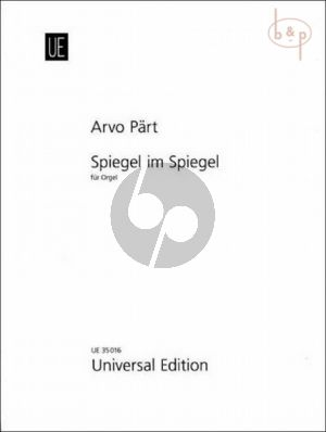Part Spiegel im Spiegel (1978) Orgel (edited by Giovanni Mazza)