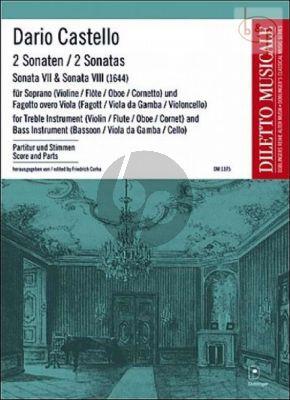 2 Sonatas (Sonata No.7 - 8) [1644] (Soprano [Vi./Fl./Ob.]-Bass Instr.[Bsn./Viola da G./Vc.]