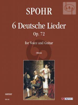 6 Deutsche Lieder Op.72