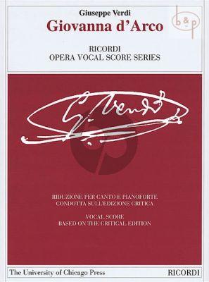 Verdi Giovanna d'Arco Vocal Score (it.) (critical edition Ricordi - University of Chicago Press)