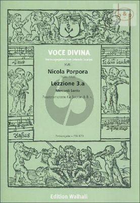 Lezzione 3.a Mercordi Santo (Passionsmotette) (Soprano-Basso (not exposed)