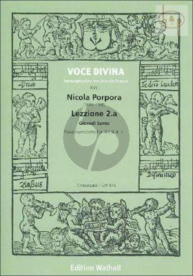 Lezzione 2.a Giovedi Santo (Passionsmotette) (Alto-Basso[not exposed])