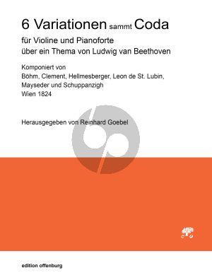 6 Variationen mit Coda über ein Thema von Ludwig van Beethoven Violine und Klavier (Reinhard Goebel)