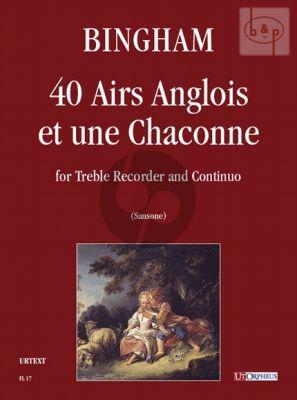 40 Airs Anglois et une Chaconne Treble Recorder-Bc