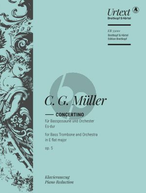 Muller Concertino Es-dur Op.5 (Bass Trombone-Orch.) (piano red.) (edited by Nick Pfefferkorn)