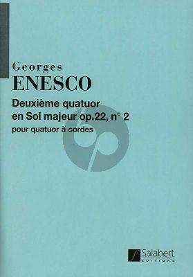 Enescu Quatuor Sol-majeur Opus 22 No. 2 2 Violons-Alto et Violoncelle (Partition)