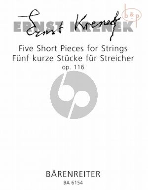 5 Short Pieces for Strings Op.116