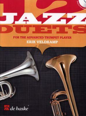 Veldkamp 12 Jazz Duets for 1 - 2 Trumpets (Bk-Cd)