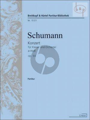 Concerto a-minor Op.54 (Piano-Orch.) (Study Score)