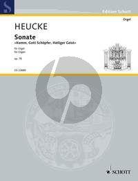 """Heucke Sonata """"Komm, Gott Schöpfer, Heiliger Geist"""" Op.78 Organ"""