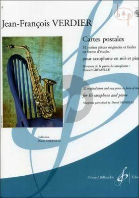 Cartes Postales (32 Original Short and Easy Pieces in form of Etudes) (Alto Sax.-Piano) (Bk-Cd)