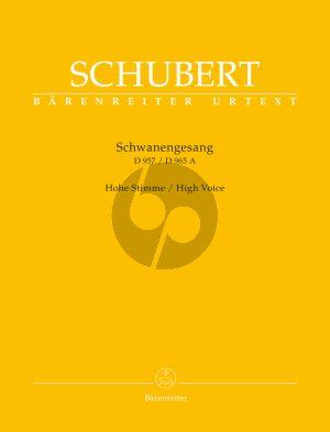 Schubert Schwanengesang D.957 - Die Taubenpost D.965A (High) (edited by Walther Durr) (Barenreiter-Urtext)