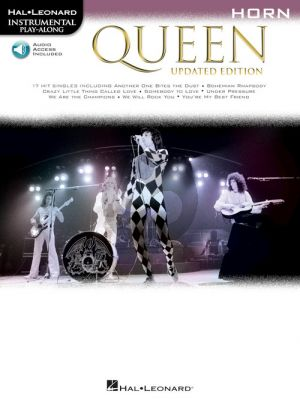 Queen 17 Songs Instrumental Play-Along for Horn (updated edition) (Book with Audio online)
