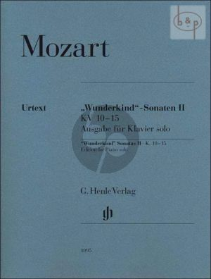 Mozart Wunderkind Sonaten Vol. 2 KV 10 - 15 Piano Solo Version (edited by Wolf-Dieter Seiffert) (Henle-Urtext)
