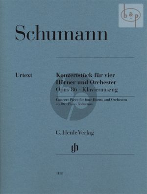 Konzertstuck Op.86 (4 Horns-Orch.) (piano red.) (edited by Ernst Herttrich)