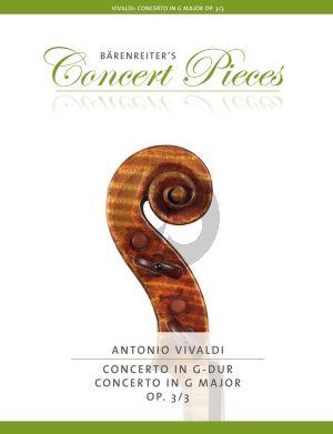 Vivaldi Concerto G-major Op.3 No.3 RV 310 Violin and Piano (edited by Kurt Sassmannshaus)