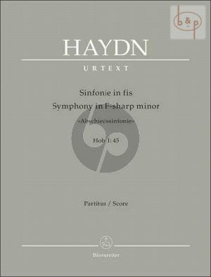 """Symphony No.45 (Hob.I:45) """"Abschied"""" (Full Score)"""