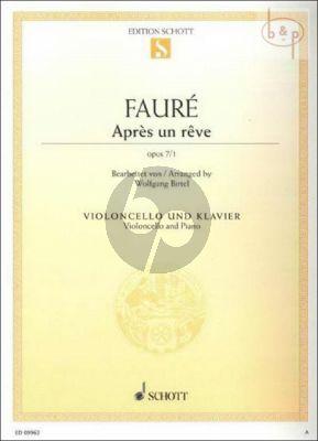Apres un Reve Op.7 No.1 Violoncello-Piano