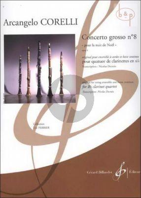 Concerto Grosso Op.6 No.8 (Christmas Concerto) (3 Clar.[Bb]-Bass Clar.[Bb]) (Score/Parts)
