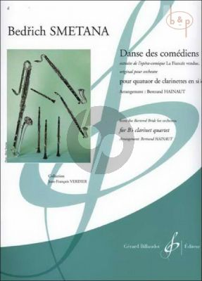 Danse des Comediens (from the Bartered Bride) (3 Clar.[Bb]-Bass Clar.[Bb]) (score/Parts)