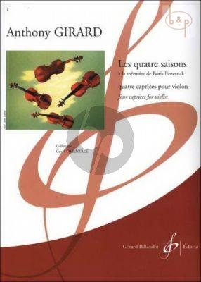 Les Quatre Saisons Violon solo  (a la memoire de Boris Pasternak)
