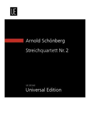 Schoenberg Streichquartett No.2 fis moll Op.10 (1907-1908) with Soprano Solo Study Score