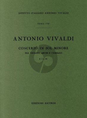 Vivaldi Concerto Sol Minore RV 328 F.I n.82 Violino-Archi-Cembalo