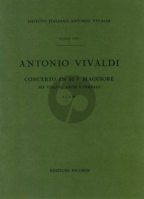 Vivaldi Concerto Si-bemolle RV 370 Violino-Archi-Cembalo