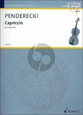 Capriccio violin solo