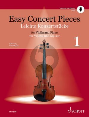Easy Concert Pieces vol.1 Violin and Piano (Bk-Audio Online) (edited by Peter Mohrs)