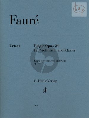 Faure Elegie Op.24 Violoncello and Piano (edited by Jean-Christophe Monnier)