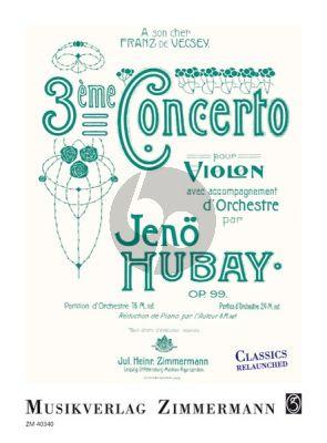 Hubay Concerto No.3 g-minor Op.99 (Violine-Orch.) (piano red.)