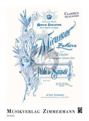 Sarasate Miramar. Zortzico Op.42 Violine-Klavier