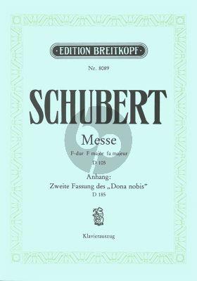 Messe F-Dur D 105 Klavierauszug
