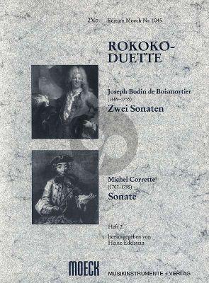 Rokoko Duette Vol. 2 3 Sonaten 2 Violoncellos (Heinz Edelstein)