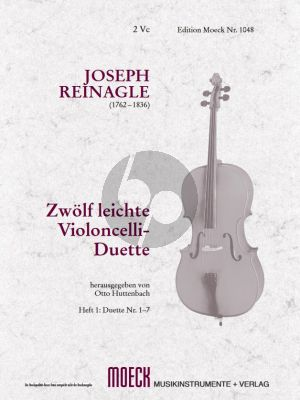 Reinagle Leichte Violoncello Duette Vol.1 (No.1 - 7) (for the use of beginners) (Huttenbach)