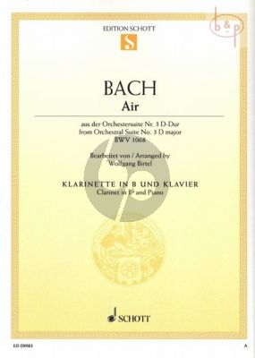 Air BWV 1068 (from Orchestral Suite No.3 D-major) Clarinet-Piano
