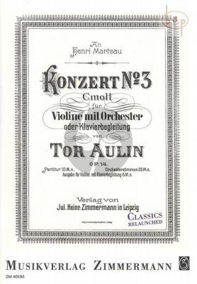 Concerto No.3 Op.14 c-minor for Violin and Piano