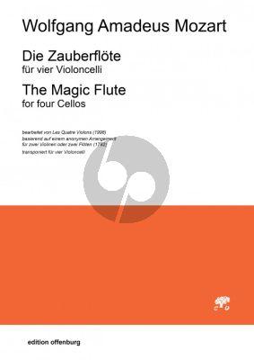 Mozart Die Zauberflote für 4 Violoncelli (Part./Stimmen)