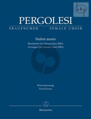 Stabat Mater (arr. for Female Choir) (SMA) (Vocal Score)